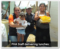 PHA Staff delivering lunches